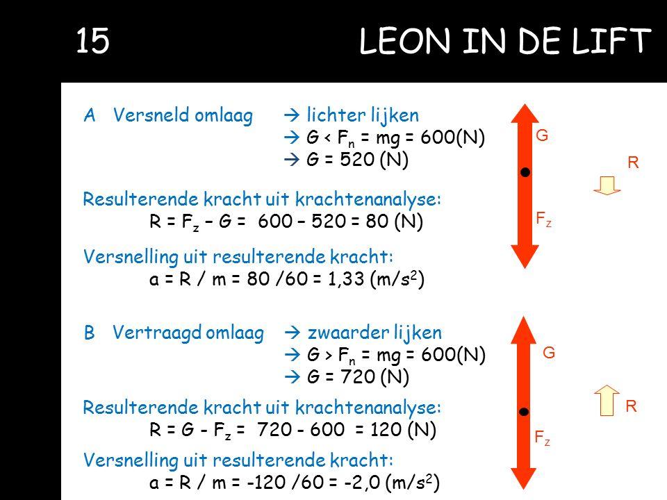 15 LEON IN DE LIFT A Versneld omlaag  lichter lijken