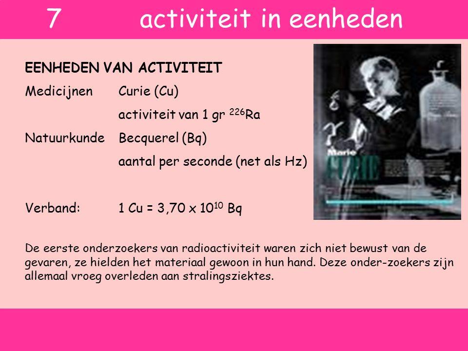 7 activiteit in eenheden