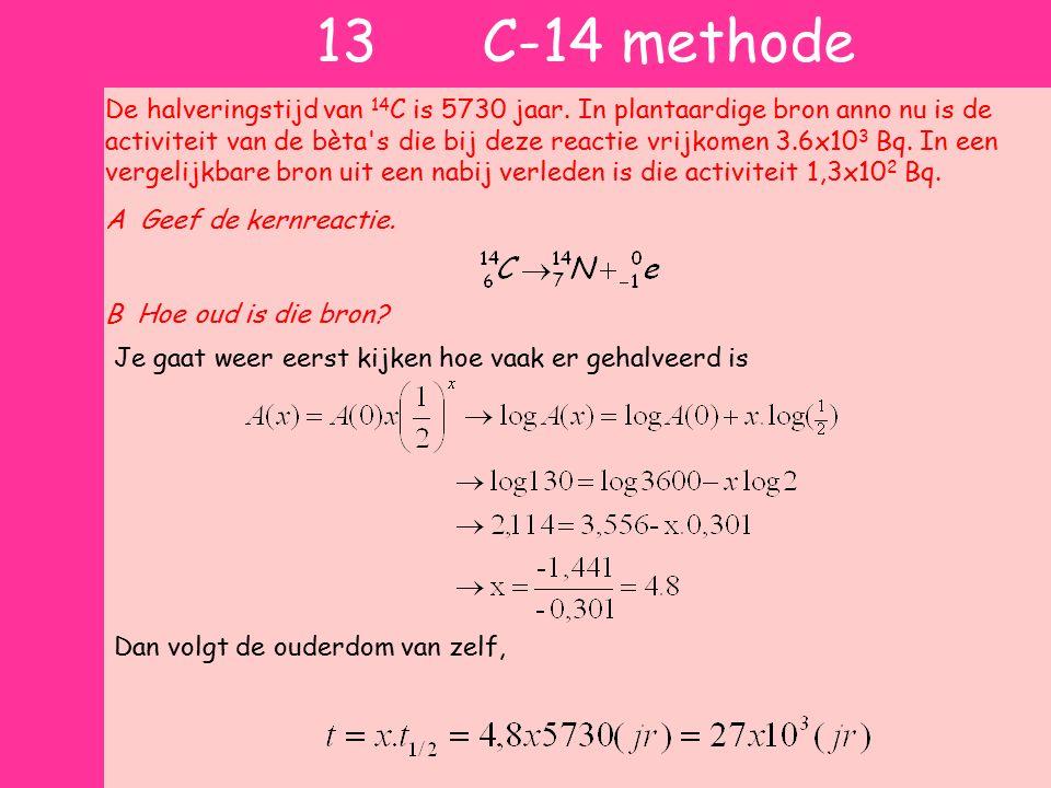 13 C-14 methode