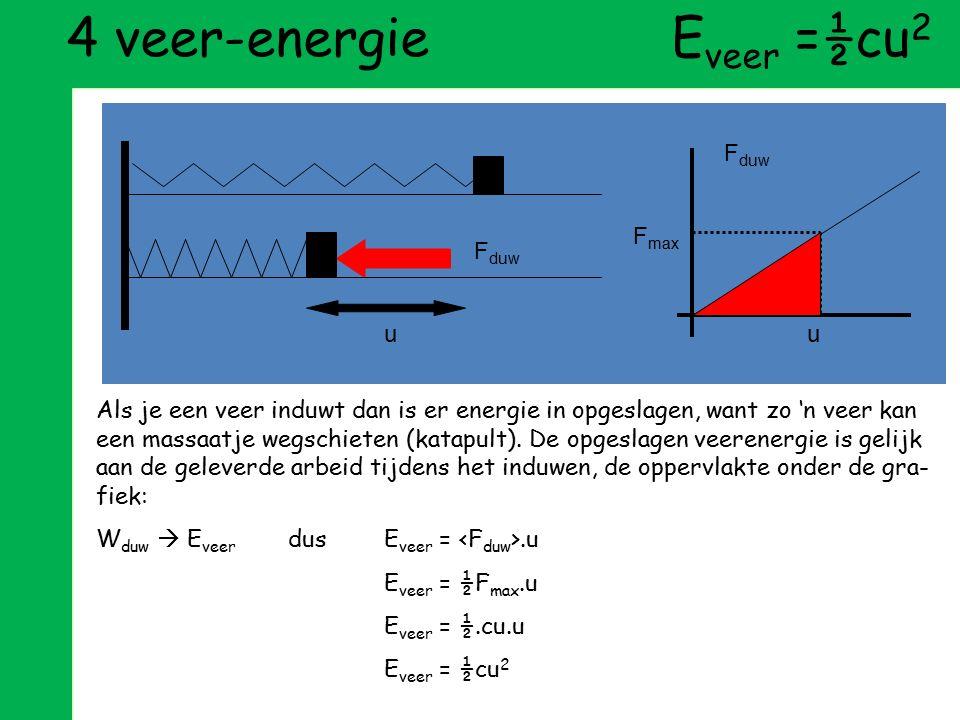4 veer-energie Eveer =½cu2