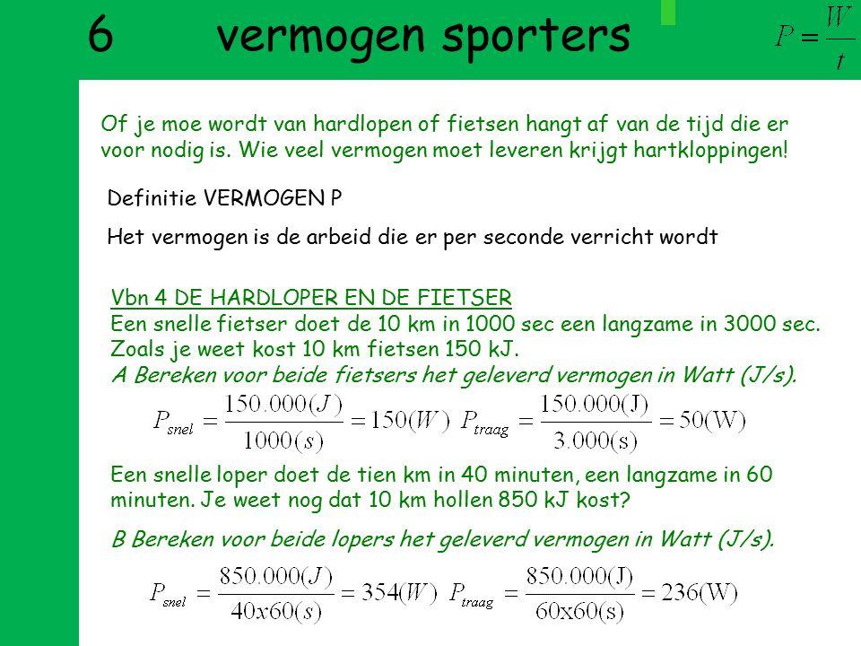 6 vermogen sporters