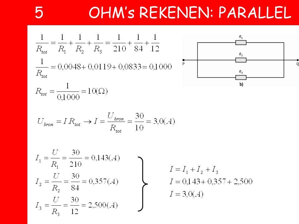 5 OHM's REKENEN: PARALLEL