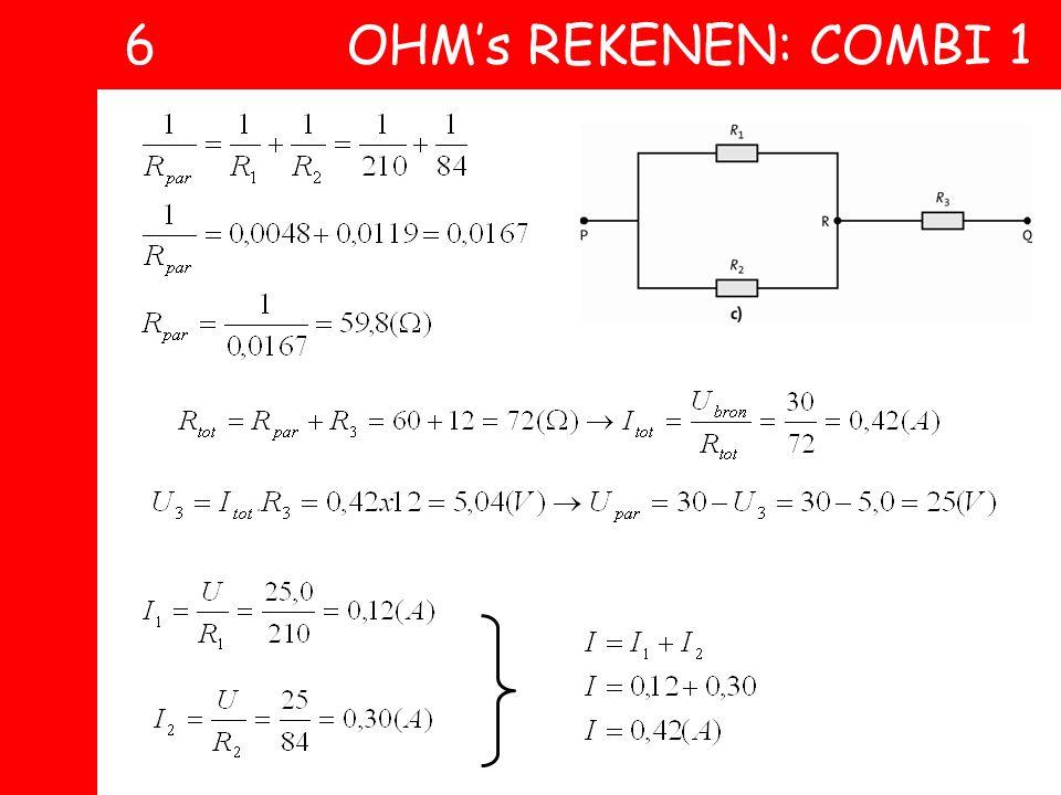 6 OHM's REKENEN: COMBI 1