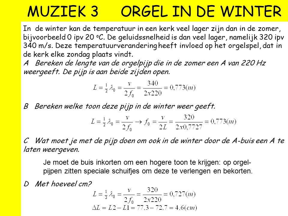 MUZIEK 3 ORGEL IN DE WINTER