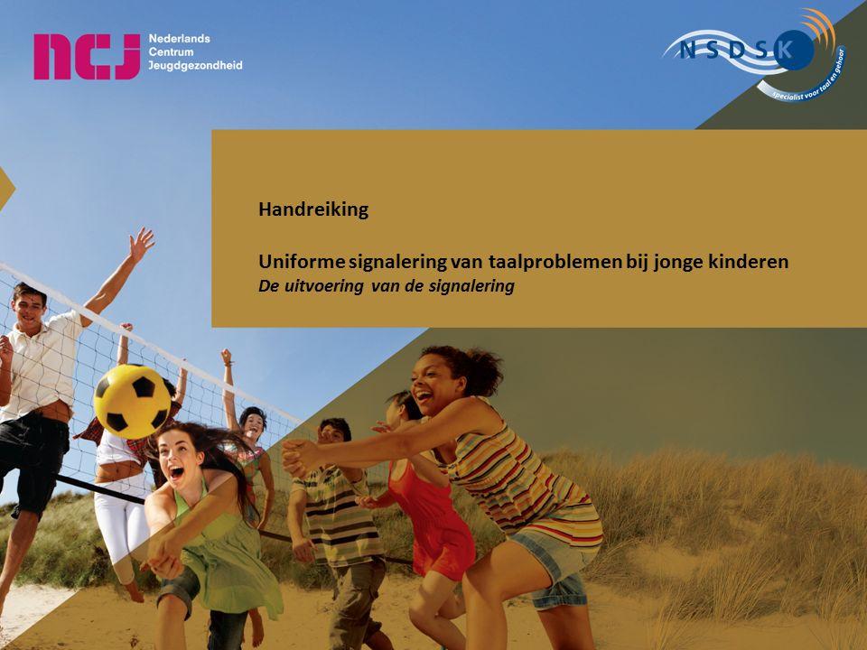 Uniforme signalering van taalproblemen bij jonge kinderen
