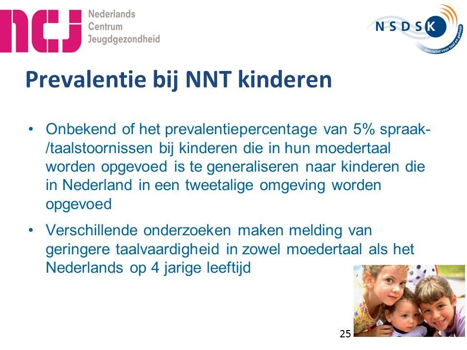 Prevalentie bij NNT kinderen