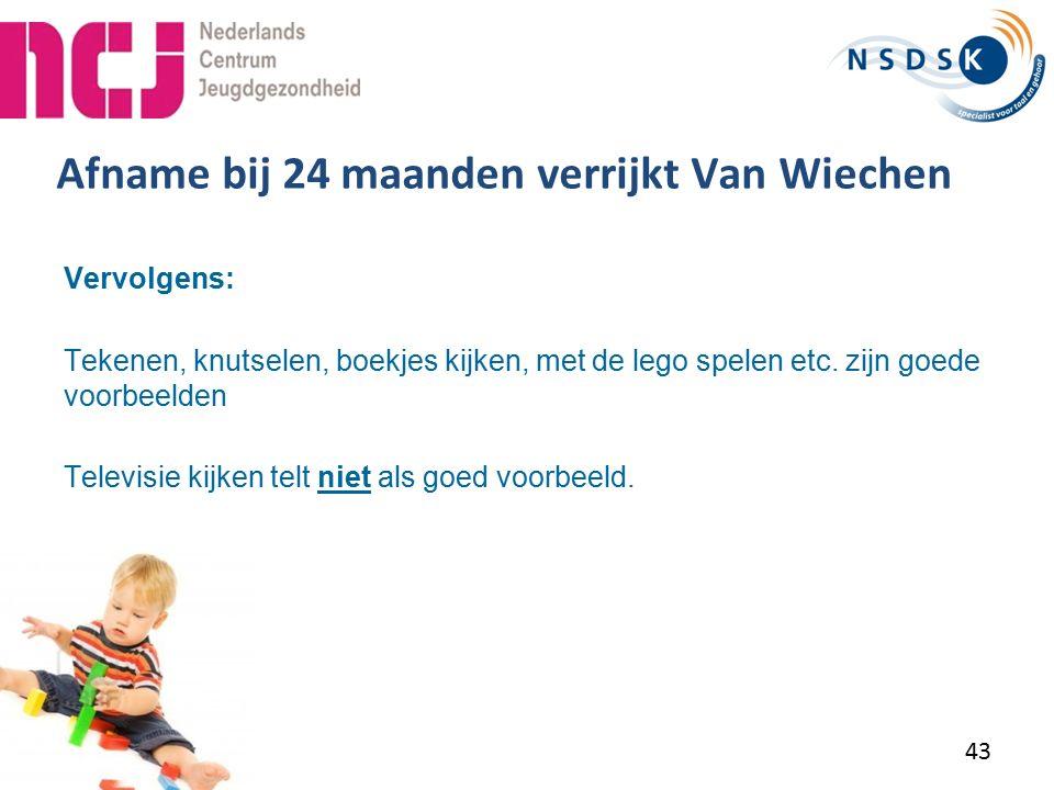Afname bij 24 maanden verrijkt Van Wiechen