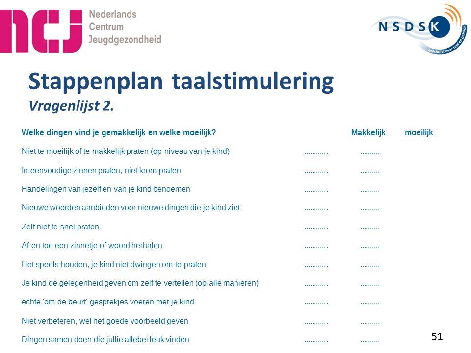 Stappenplan taalstimulering