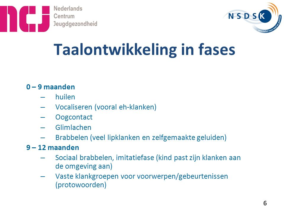 Taalontwikkeling in fases