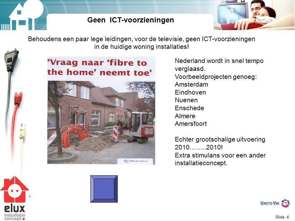 Geen ICT-voorzieningen