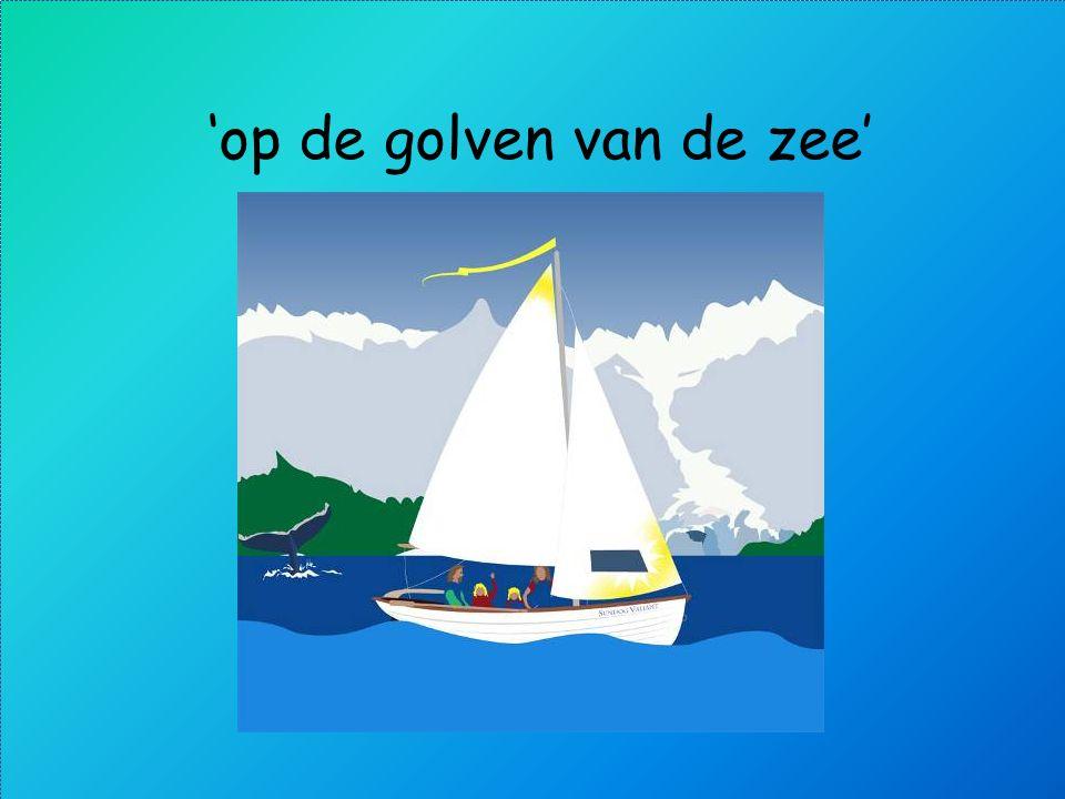 'op de golven van de zee'