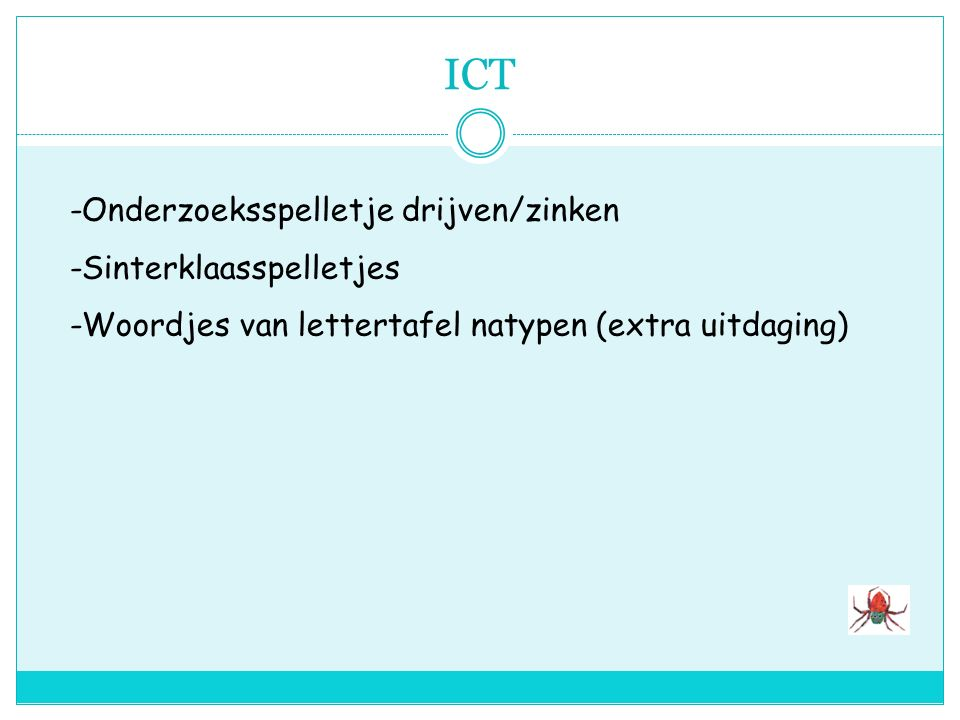 ICT -Onderzoeksspelletje drijven/zinken -Sinterklaasspelletjes