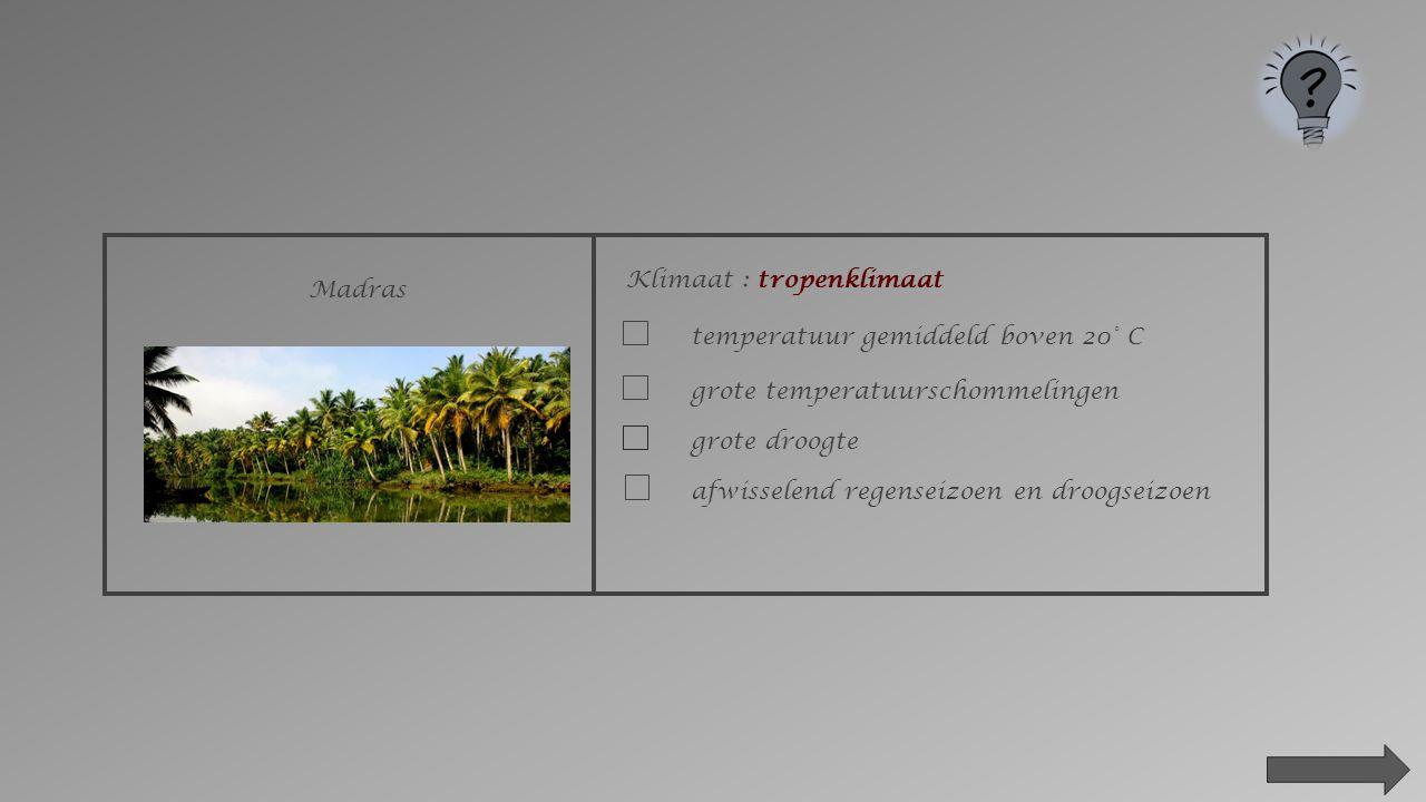 Klimaat : tropenklimaat