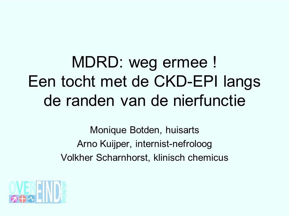 MDRD: weg ermee ! Een tocht met de CKD-EPI langs de randen van de nierfunctie