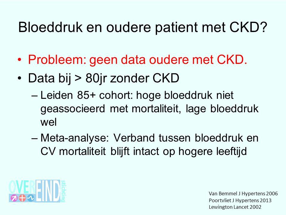 Bloeddruk en oudere patient met CKD