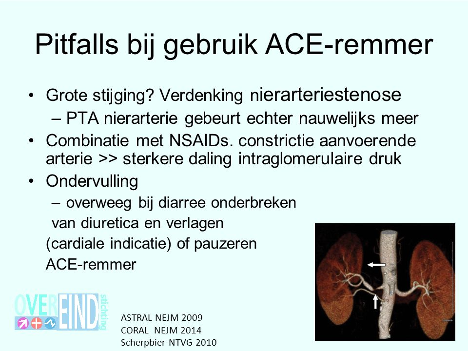 Pitfalls bij gebruik ACE-remmer