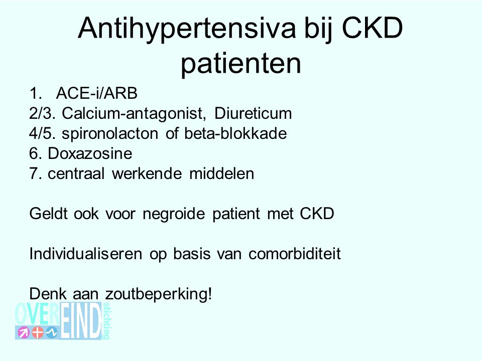 Antihypertensiva bij CKD patienten