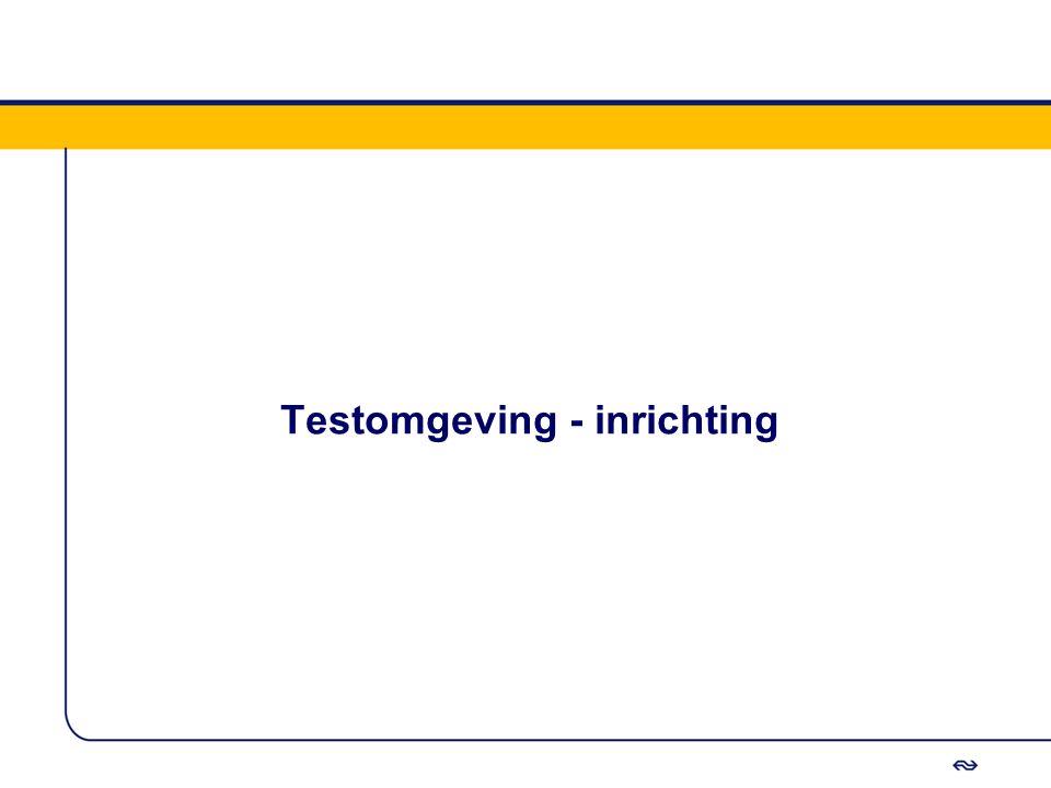 Testomgeving - inrichting