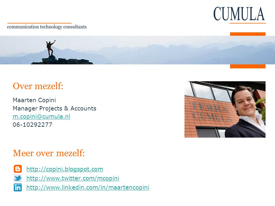 Over mezelf: Meer over mezelf: Maarten Copini