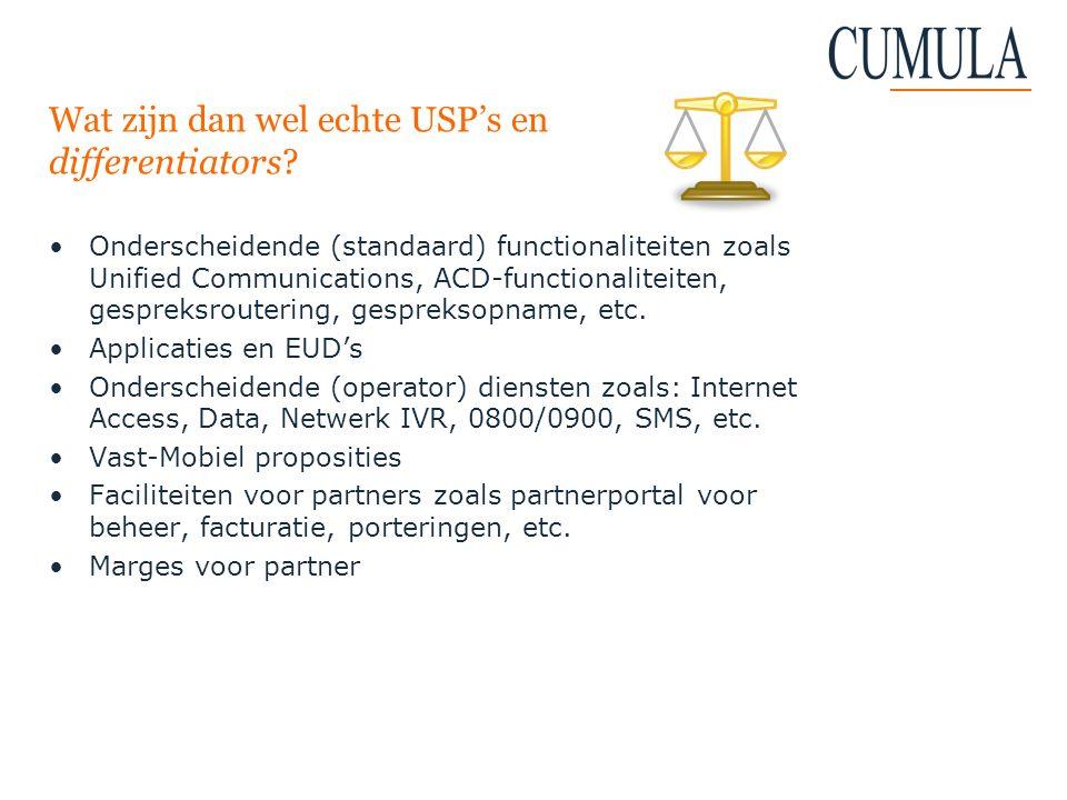 Wat zijn dan wel echte USP's en differentiators