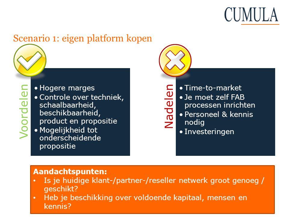 Scenario 1: eigen platform kopen