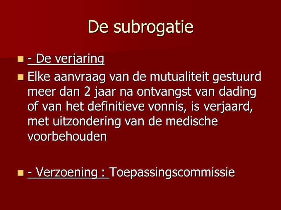 De subrogatie - De verjaring