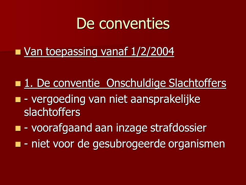 De conventies Van toepassing vanaf 1/2/2004