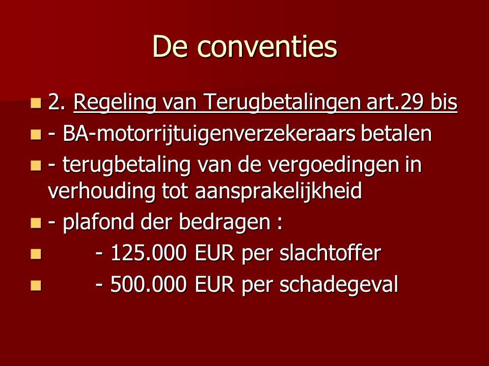 De conventies 2. Regeling van Terugbetalingen art.29 bis