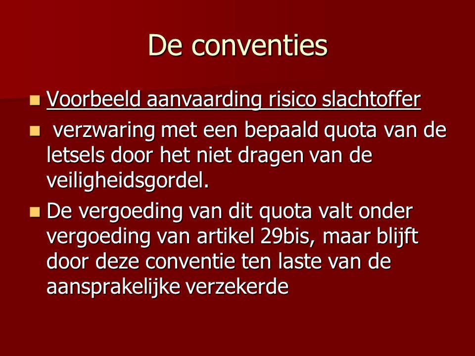 De conventies Voorbeeld aanvaarding risico slachtoffer