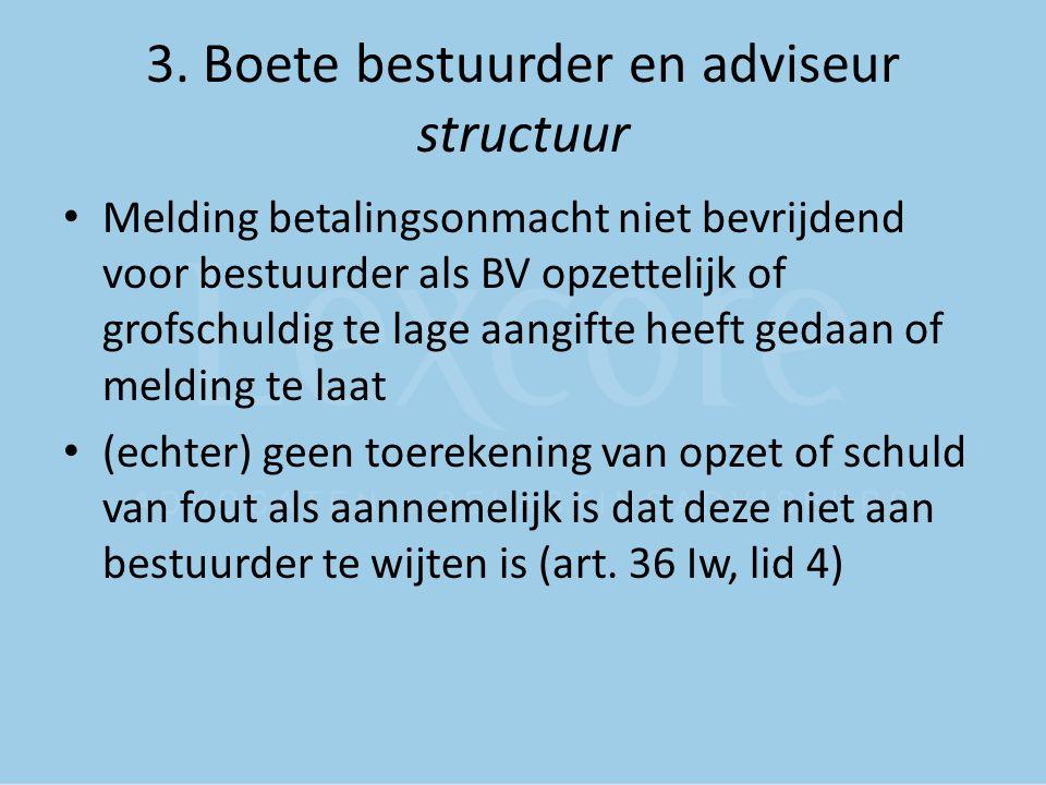 3. Boete bestuurder en adviseur structuur