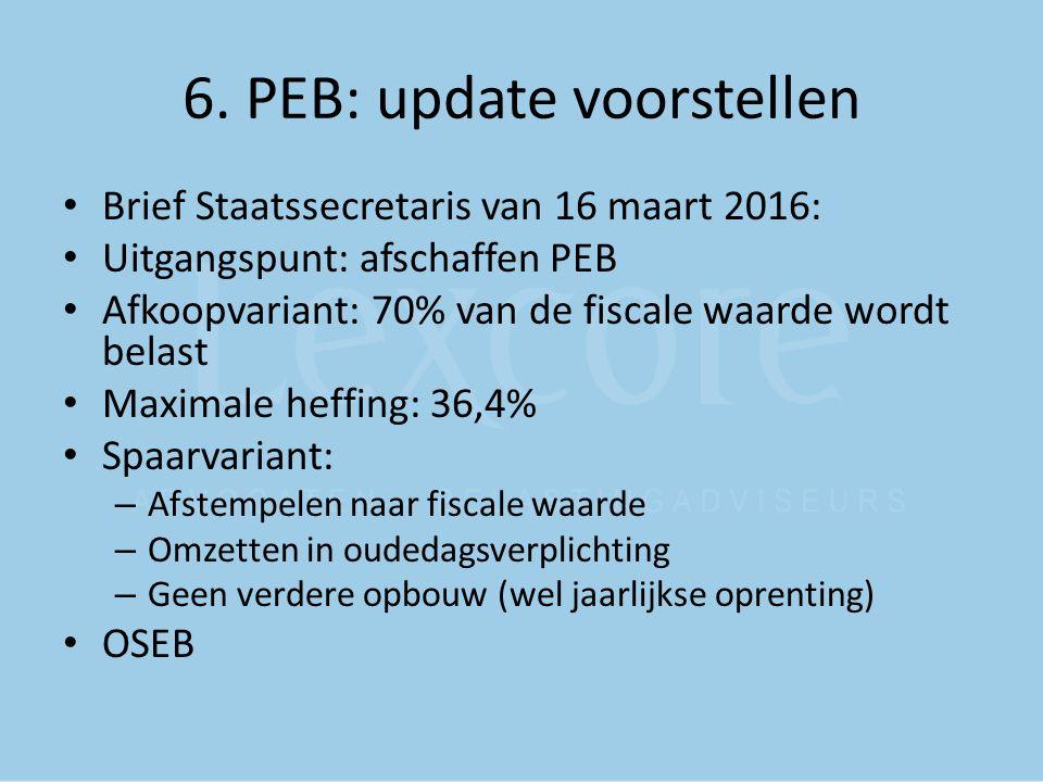 6. PEB: update voorstellen