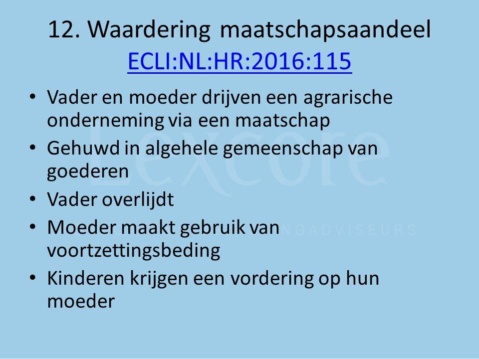 12. Waardering maatschapsaandeel ECLI:NL:HR:2016:115