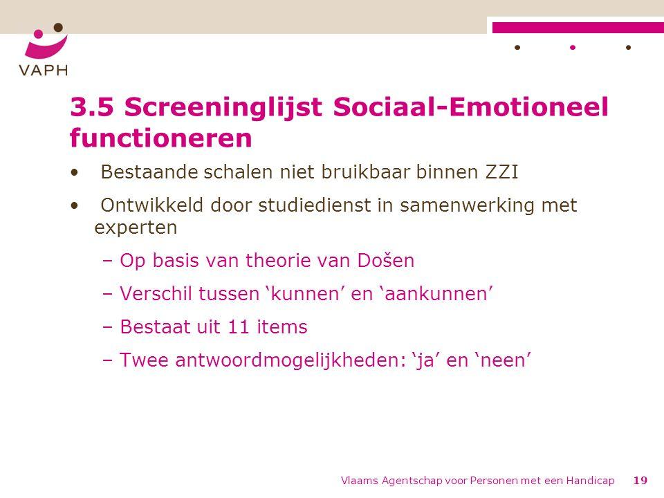 3.5 Screeninglijst Sociaal-Emotioneel functioneren