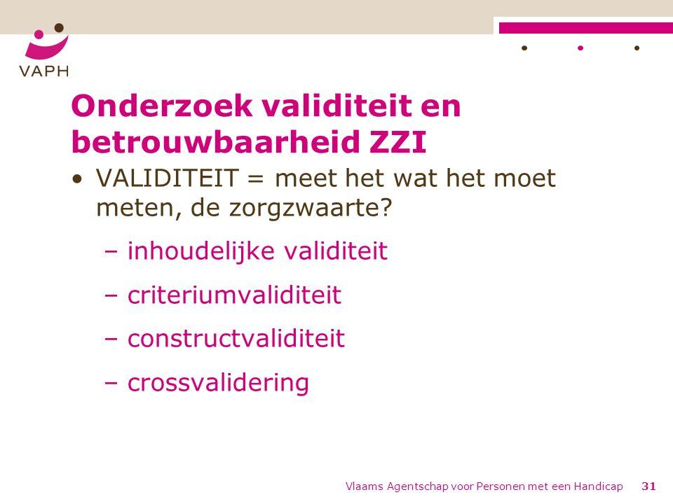 Onderzoek validiteit en betrouwbaarheid ZZI