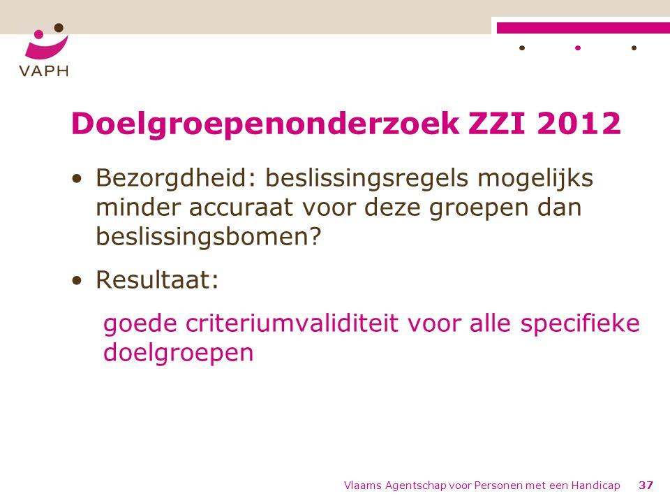 Doelgroepenonderzoek ZZI 2012