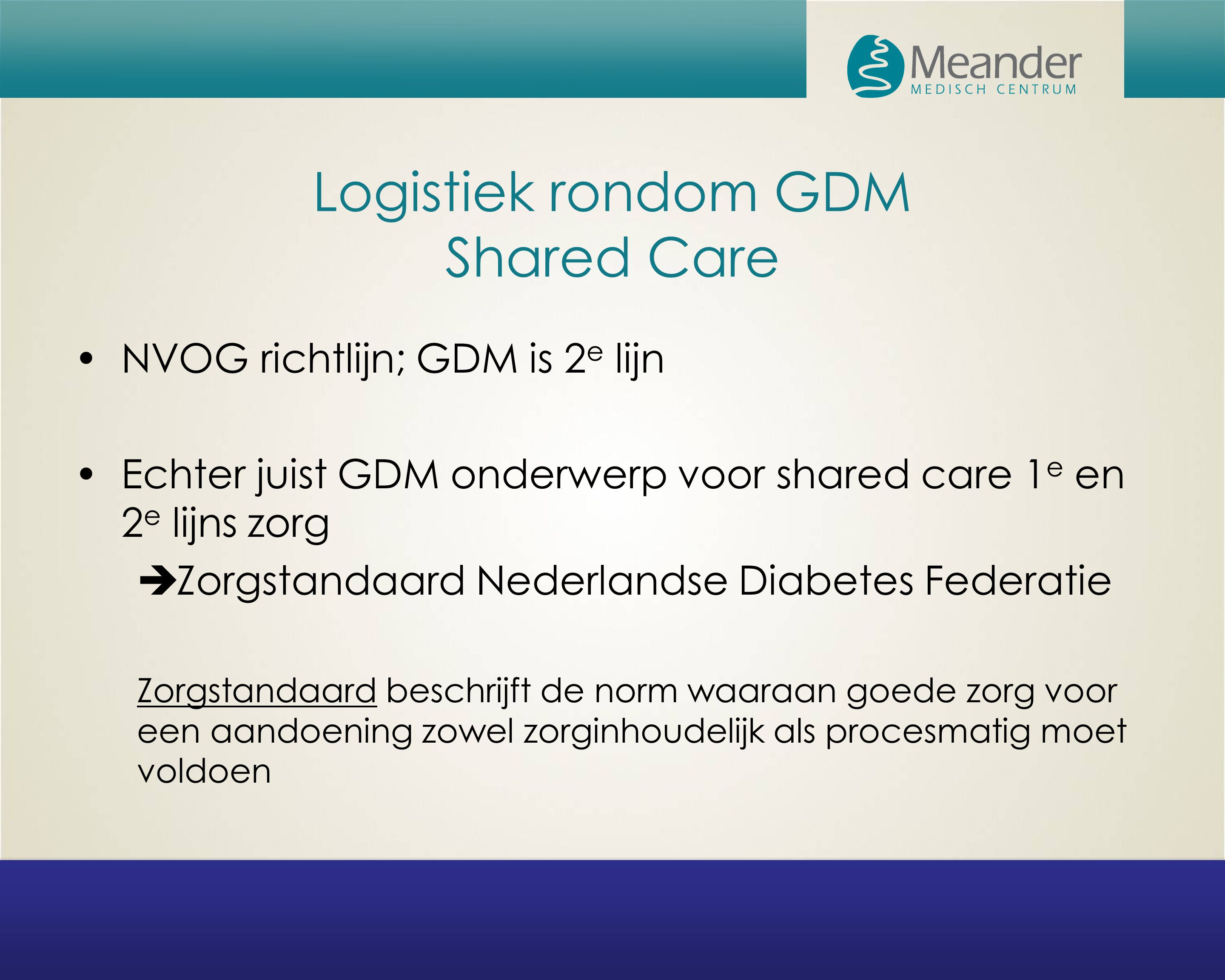 Logistiek rondom GDM Shared Care