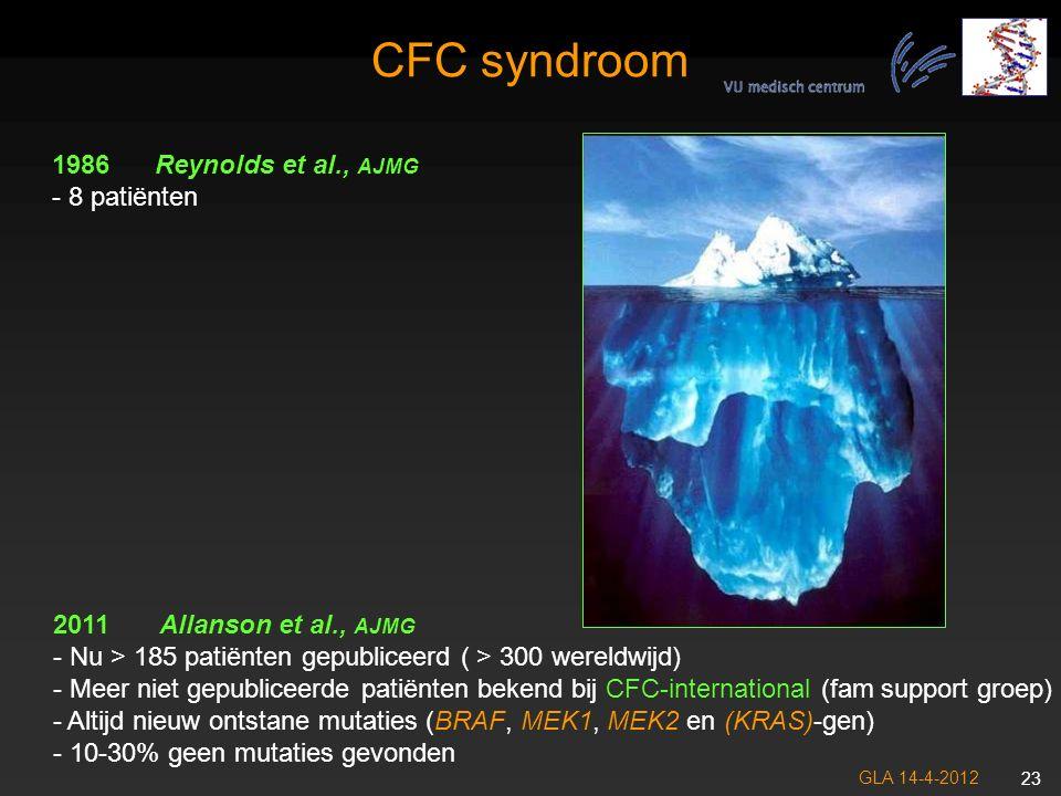 CFC syndroom Reynolds et al., AJMG - 8 patiënten