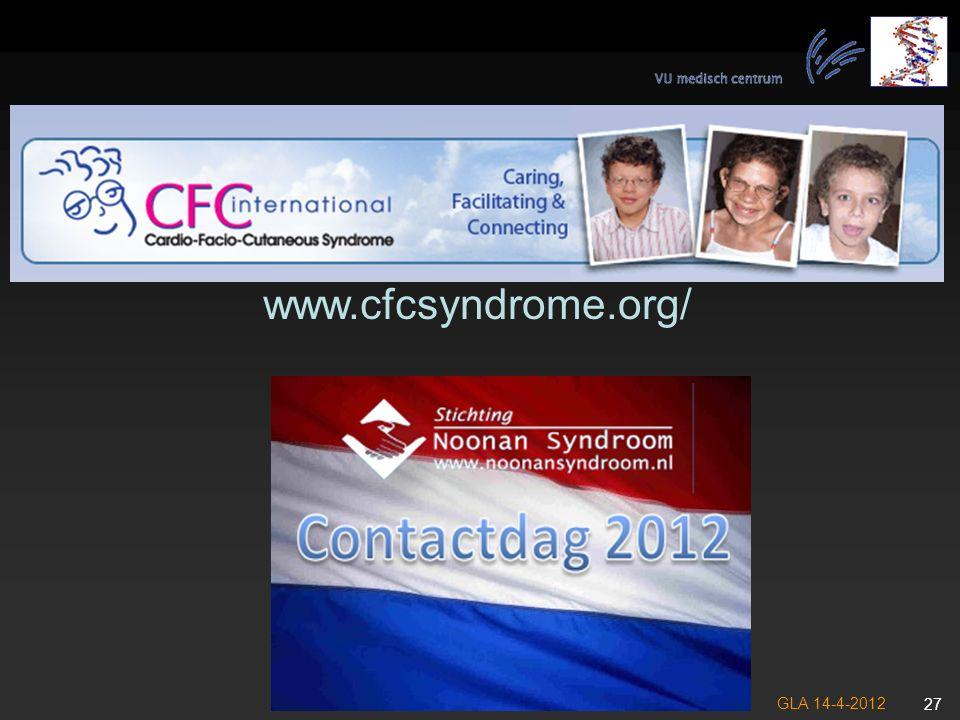 www.cfcsyndrome.org/ GLA 14-4-2012