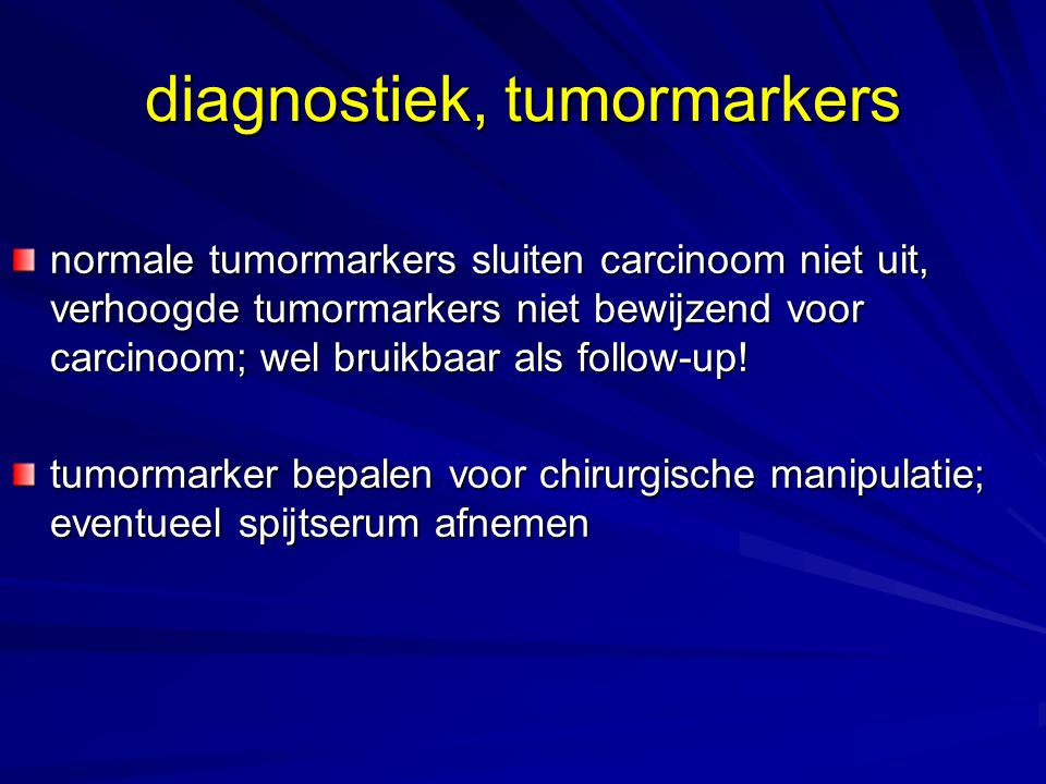 diagnostiek, tumormarkers