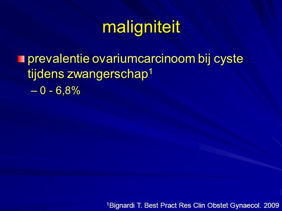 maligniteit prevalentie ovariumcarcinoom bij cyste tijdens zwangerschap1.
