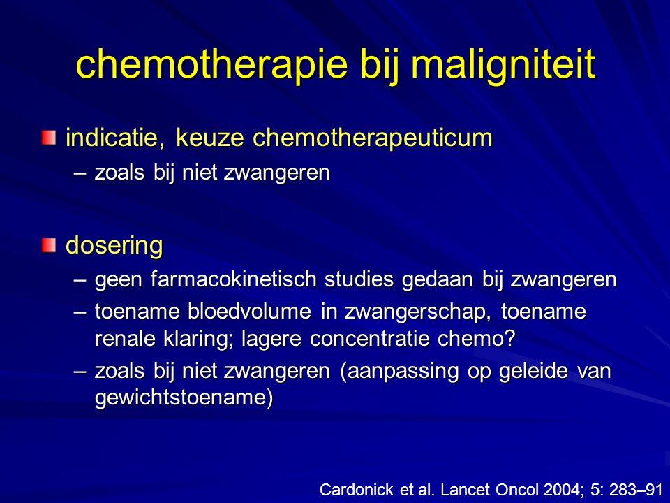 chemotherapie bij maligniteit
