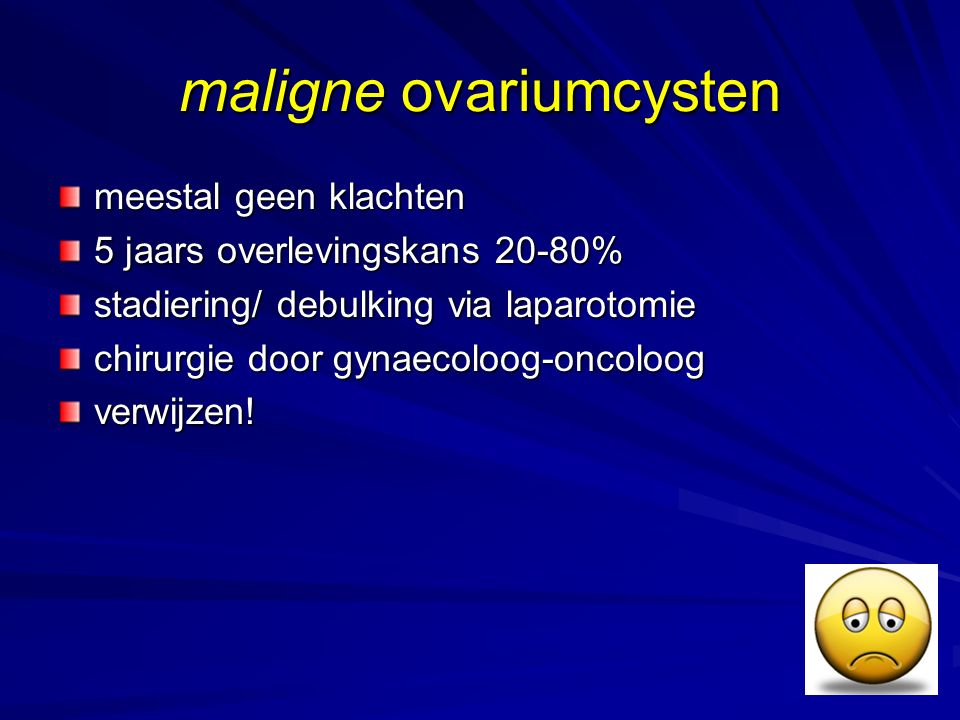 maligne ovariumcysten