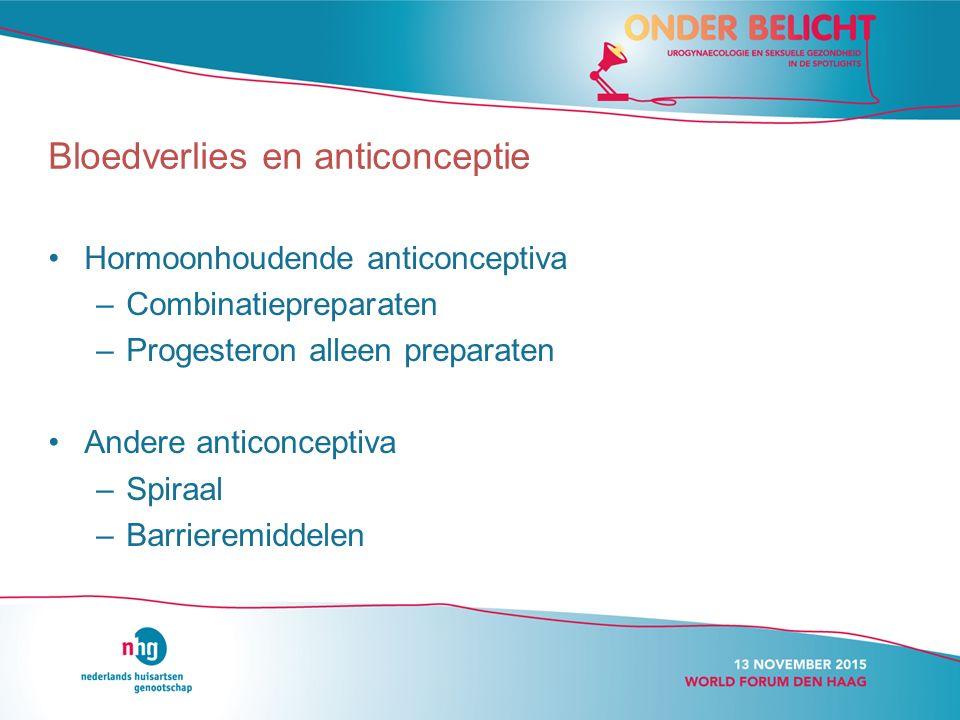 Bloedverlies en anticonceptie