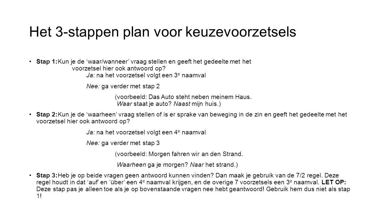 Het 3-stappen plan voor keuzevoorzetsels