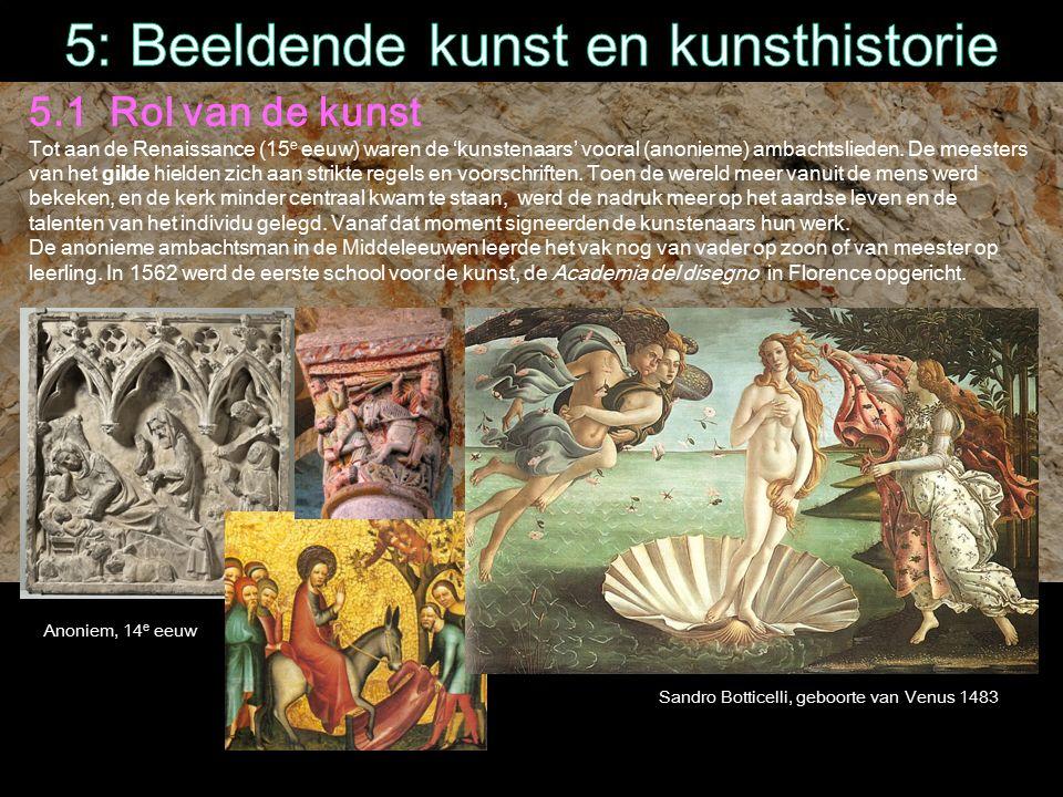 5: Beeldende kunst en kunsthistorie
