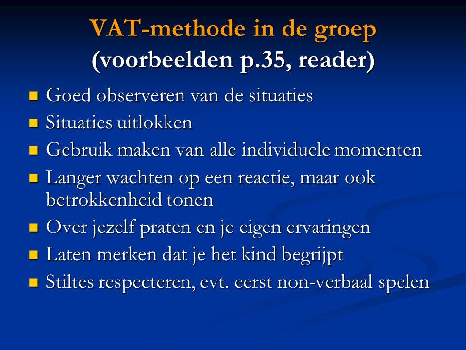VAT-methode in de groep (voorbeelden p.35, reader)