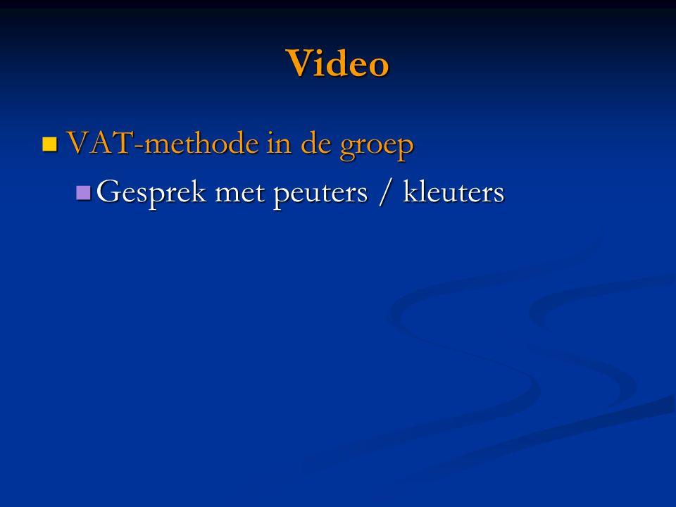 Video VAT-methode in de groep Gesprek met peuters / kleuters