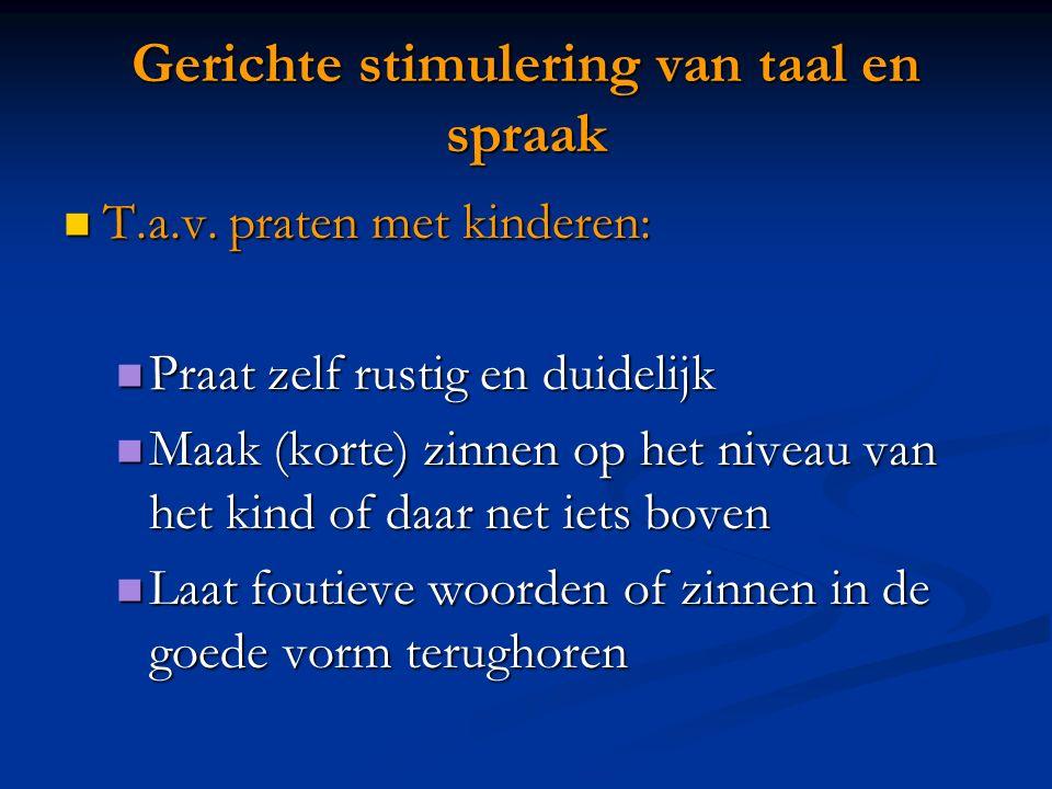 Gerichte stimulering van taal en spraak