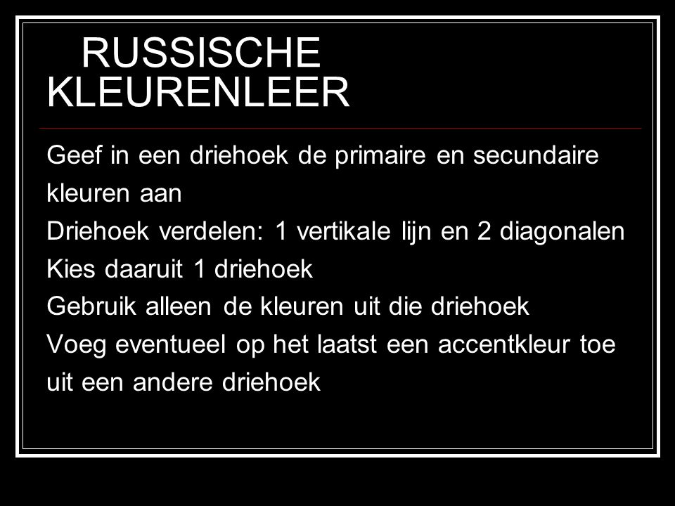 RUSSISCHE KLEURENLEER