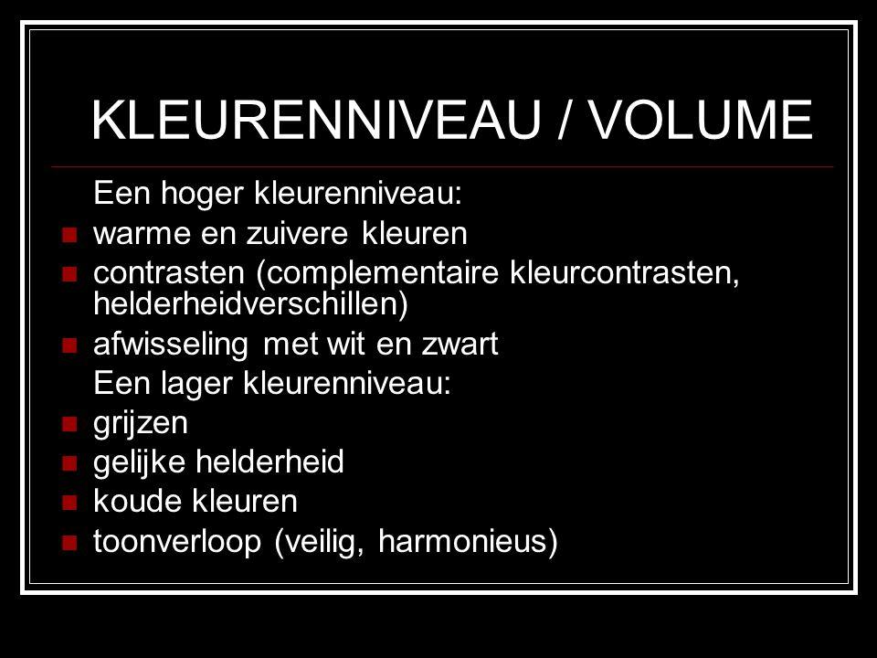 KLEURENNIVEAU / VOLUME